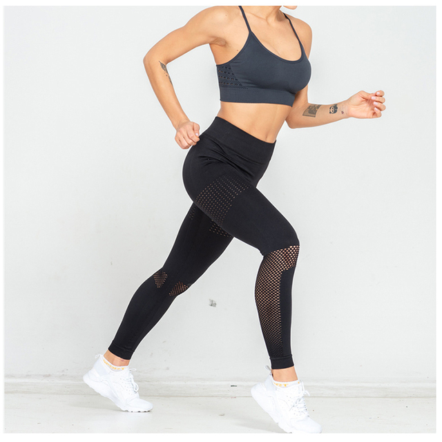 SOISOU Leggings Fitness Feminina Seamless Slim Fit High Elasticity Sports Wear For Women Gym Breathable Sexy High Waist Leggings