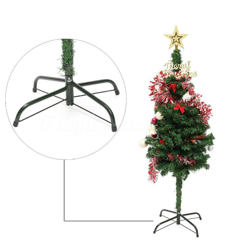 aliexpresscom buy iron metal christmas tree holder base 4 feets green tree stand foot holder xmas home party decor tree support shelf holder rack from - Metal Christmas Trees