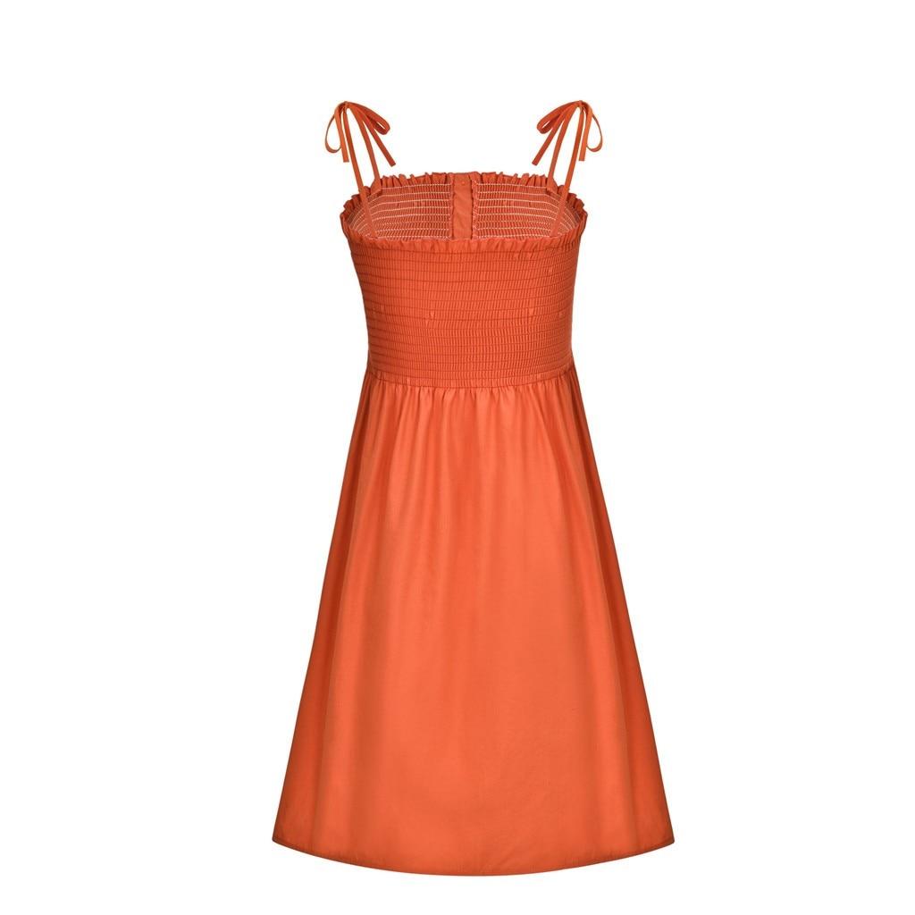 HTB1zvXLaUjrK1RkHFNRq6ySvpXaY Sexy Womens Dress Fashion Ladies Solid Color Bind Buttons Casual Mini Beach Dress Casual Ladies summer dress vestidos verano NEW