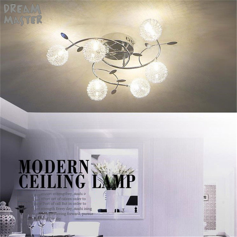Aluminum Modern led chandeliers lamp for living room bedroom dining room home ceiling lustre lighting light fixtures glass shade modern 3 6 lights crystal glass clear wineglass wine glass ceiling light lamp bedroom dining room fixture gift ems ship