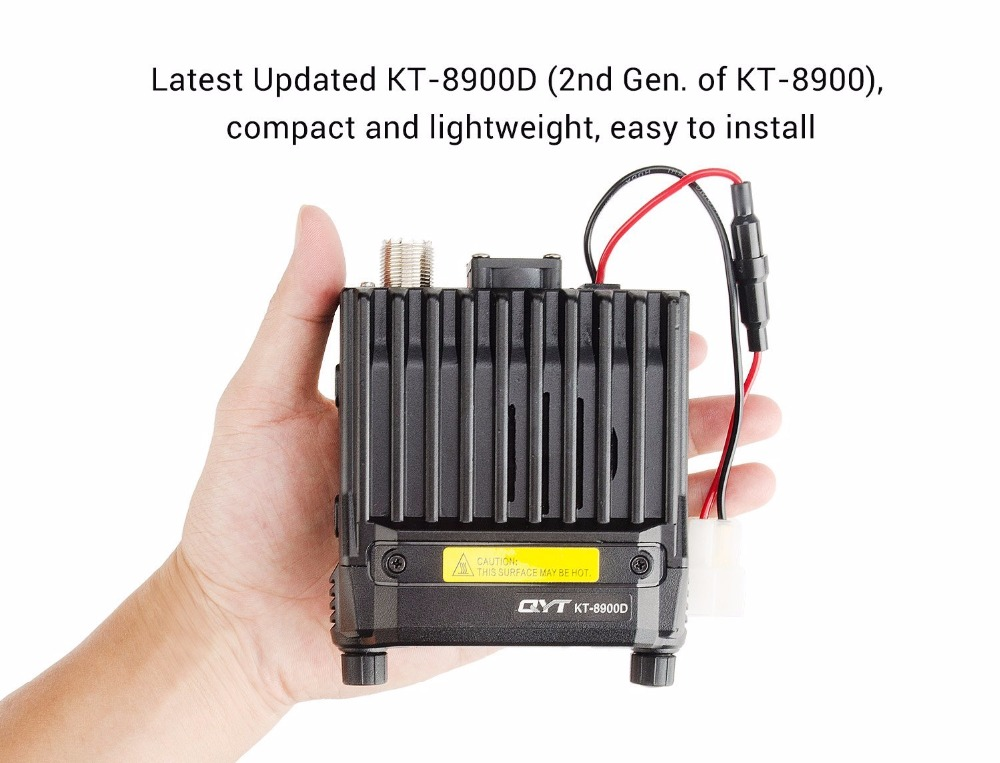 Image 4 - Sale! KT 8900D mini car mobile transceiver 25W with quad band screen vehicle two way radio Large LCD Display-in Walkie Talkie from Cellphones & Telecommunications