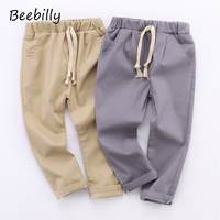 BEEBILLY Brand Boys Casual Loose Trousers Baby Boys Harem Long Pants Fashion Toddlers Cargo Pants Apring