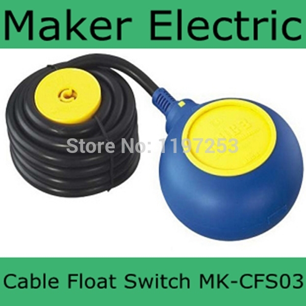 Hot sale china cable water tank level float switch MK-CFS03 4 meter AC 250V Float Switch Cable Fluid Level Controller circular float switch liquid fluid water level controller cable mk cfs05 4 meter