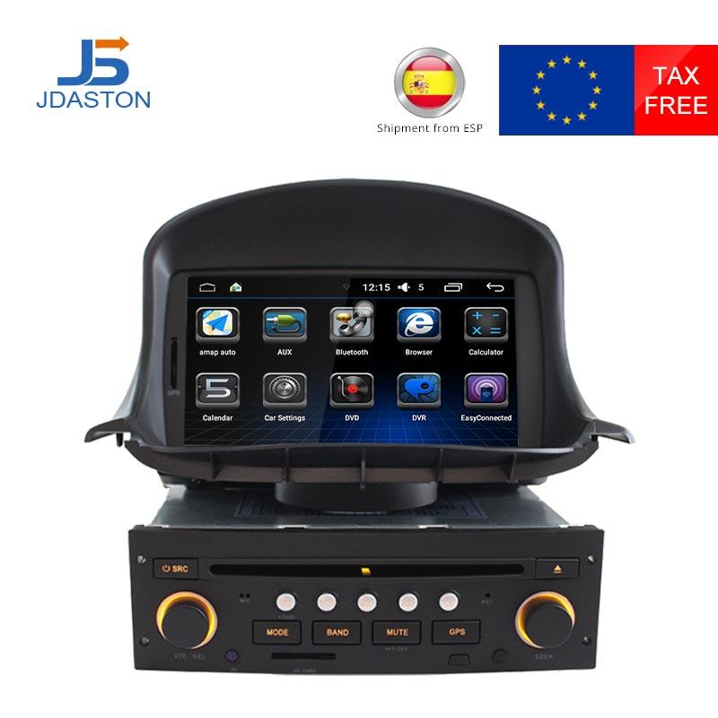 JDASTON один Din в тире Android автомобильный электронный Радио стерео видео dvd плеер для PEUGEOT 206 206CC gps навигационная карта wifi FM AM
