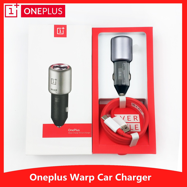 Oneplus 7 pro chargeur de voiture original charge de chaîne 30 dash 6A rapide adaptateur de charge de voiture 3.0 usb type-c câble pour one plus 7 6 T 6 5 T 5