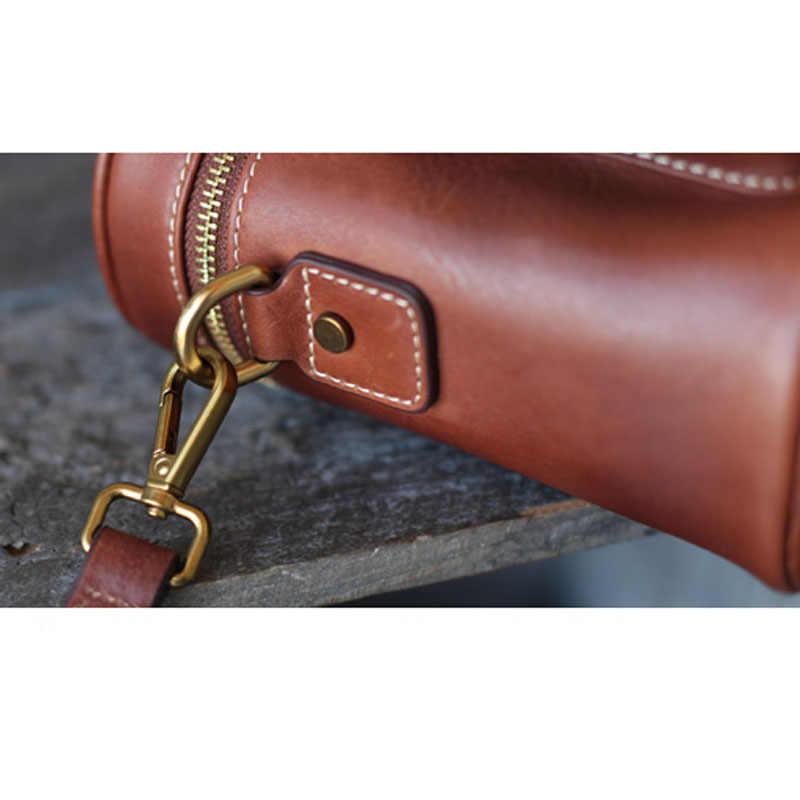 Кожаная сумка-ведро AETOO, коричневая сумка-ведро ручной работы в стиле ретро