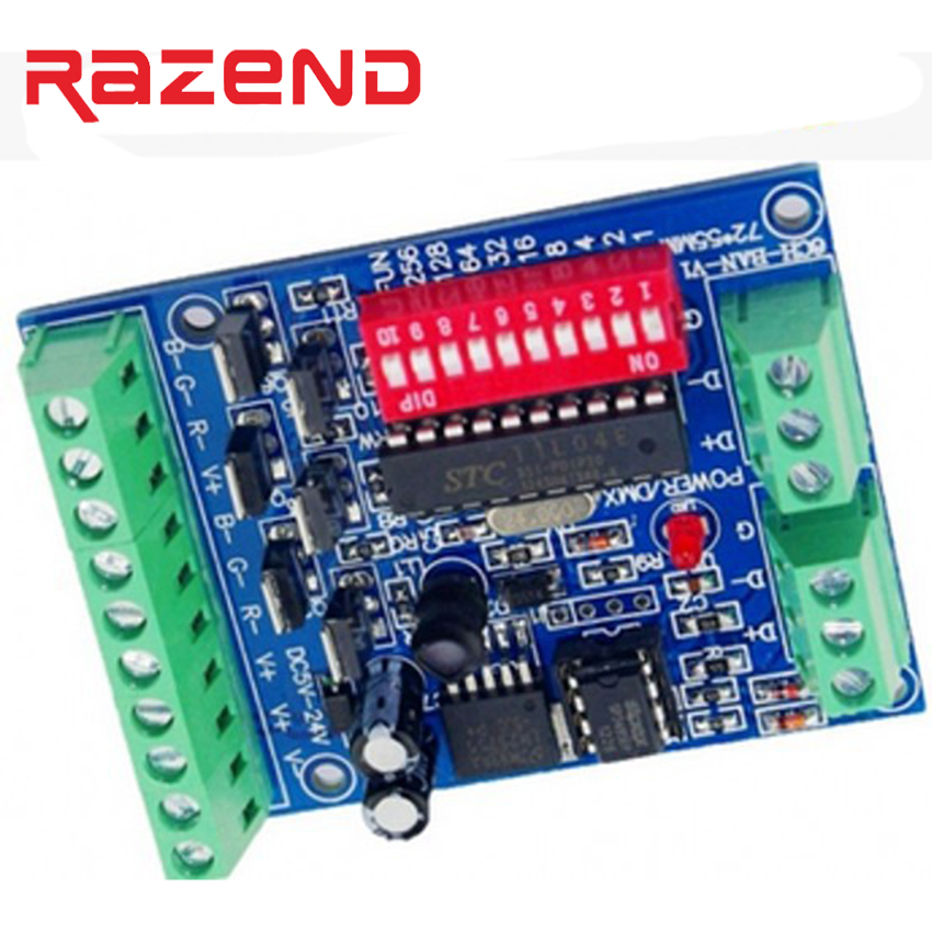 RGB DMX Decoder controller , 2 Group 3 channel Easy DMX Decoder,DC 5-24v , 6CH DMX 512 dimmer, LED RGB DMX512 decoder, 350ma constant current 12ch dmx dimmer 12 channel dmx 512 dimmer drive led dmx512 decoder rj45 xrl 3p