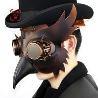 Steampunk Retro Plague Bird Mask Plague Doctor Eagle Beak Long Nose Masks Gothic Retro Prom Festival Halloween Prop