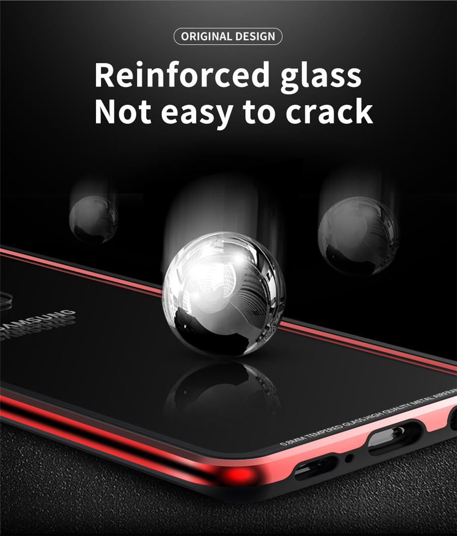 Luxury Aluminum Phone Cases For Samsung galaxy s9 Original R-just Hardness Tempered Glass Cover Case S9 Plus S9+ Accessories (6)