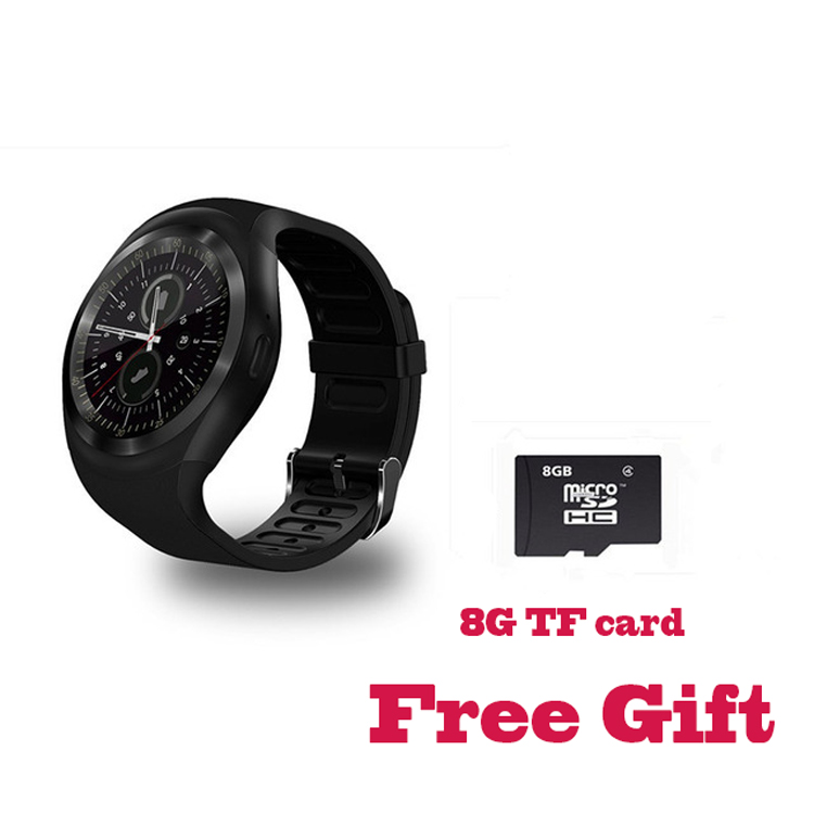 Y1 Smart Watch Round Support Nano SIM &TF Card With Bluetooth 3.0 Men Women Business Smartwatch For Android&IOS Android