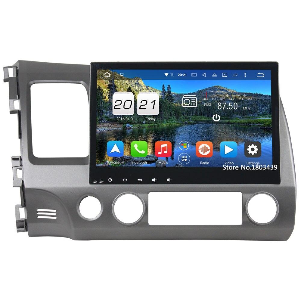"Android 6.0.1 Octa core 2 DIN 10.1 ""2 ГБ Оперативная память GPS Navi Зеркало Ссылка автомобиля Радио GPS навигации мультимедиа для Honda Civic 2006-2011"