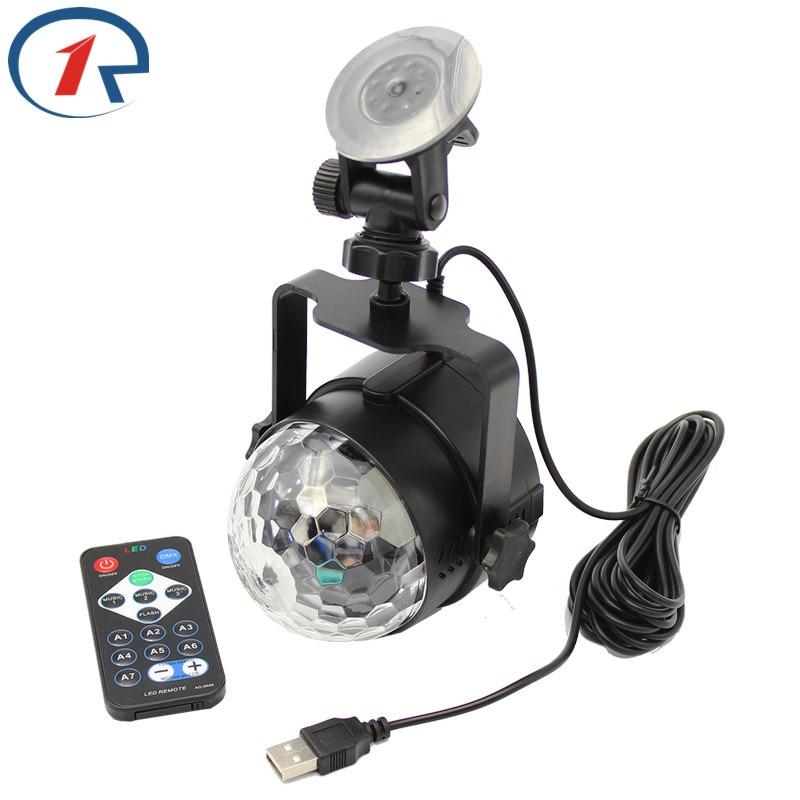 ZjRight IR kaugjuhtimispult RGB LED Crystal Magic Ball valgustus - Puhkusevalgustus - Foto 3