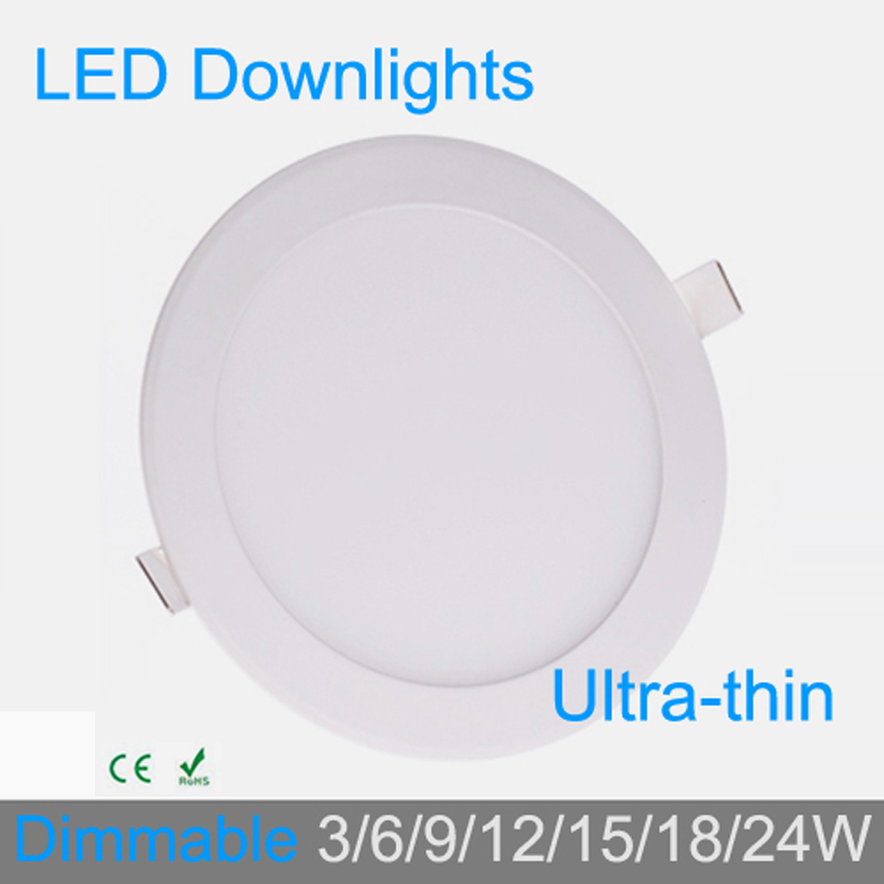 3W 4W 6W 9W 12W 15W 18W 24W dimbar LED-grid downlight runde LED-panel taklampe lampe 4000K for baderomsarmatur