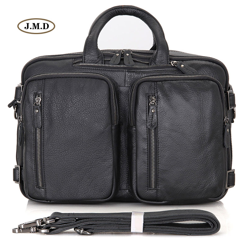 New Arrivals Genuine Vintage Leather Men's Briefcase Multifunctional Handbag Multi-Compartment Design Messenger Bag 7014A
