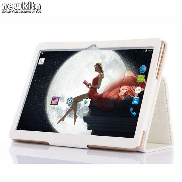 "Newkita 9.6 ""3G Tablet PC 1280*800 IPS Android 5.1 OS Quad Core Dual SIM Phablet Bluetooth GPS WIFI Tablet 10.1 Caso Del Tirón envío"
