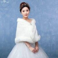 LZP135 Dames Soft Off Schouder Off Witte Bontjas Bruiloft Winter Wedding Jassen Voor Brides