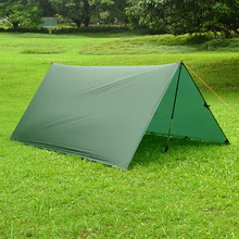 Just 510 grams 3F ul Gear 3*3 meters 15d nylon silicone coating high quality outdoor caming tent tarp 3f ul gear 4x3m silver coating flysheet waterproof sunscreen 210t taffeta hanging tarp tent beach canopy
