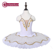 Children White Professional Ballet Tutu The Nutcraker Stage Wear Girls Classical Dance Performance Costume Adult