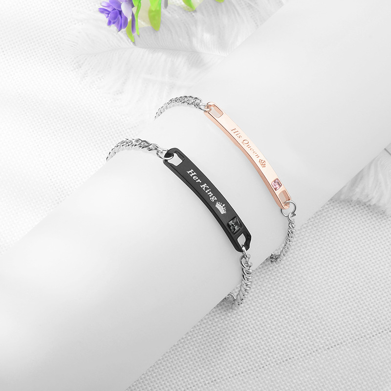 Fashion hot sale jewelry trend fashion simple temperament noble charm crown couple bracelet ladies wild