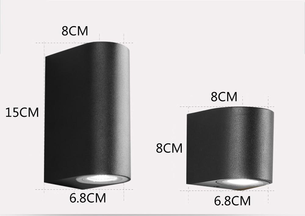 JIFENGCHENG Al aire libre a prueba de agua Simple Lámpara de pared - Iluminación interior - foto 5