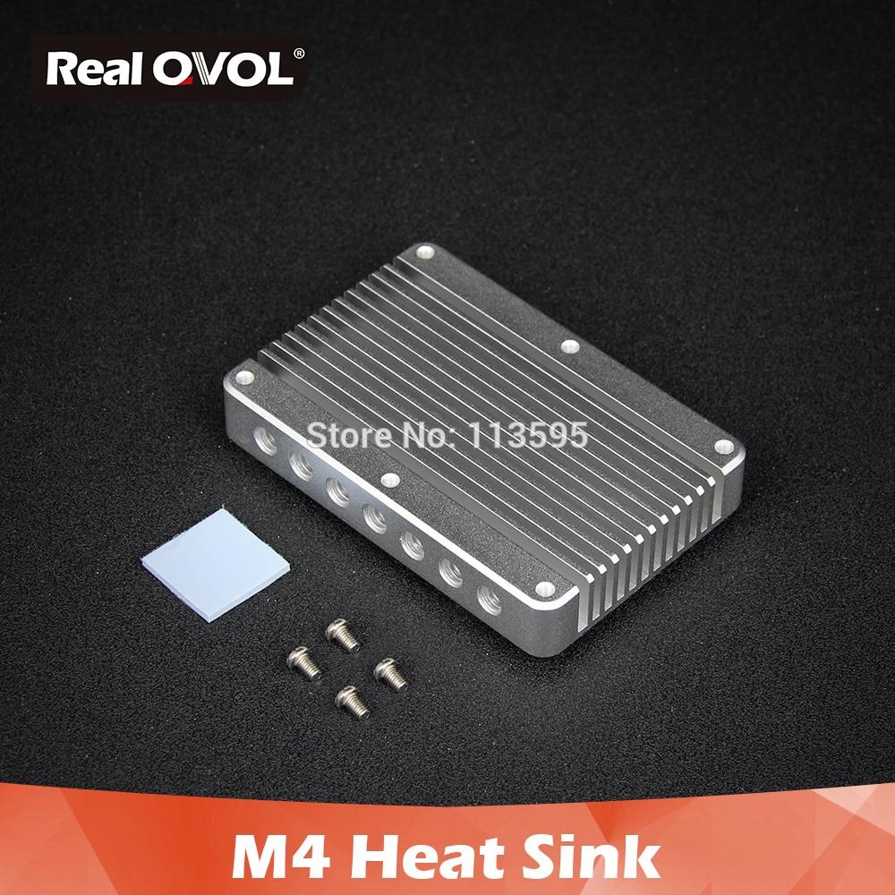RealQvol NanoPi M4 Heat Sink Pure Aluminum HeatSink Anodizing