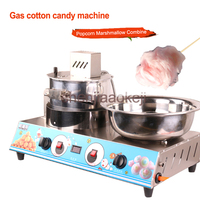 HX PM07 stainless steel commercial electric gas mobile popcorn cotton candy Combine machine Popcorn machine cotton candy machine