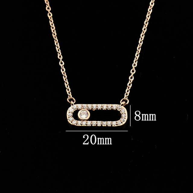 Arab Style Crystal Bead Pendant Necklace For Women Dainty Wedding Jewelry Stainless Steel Rose Gold 3 Dot On Oval Necklace Colar