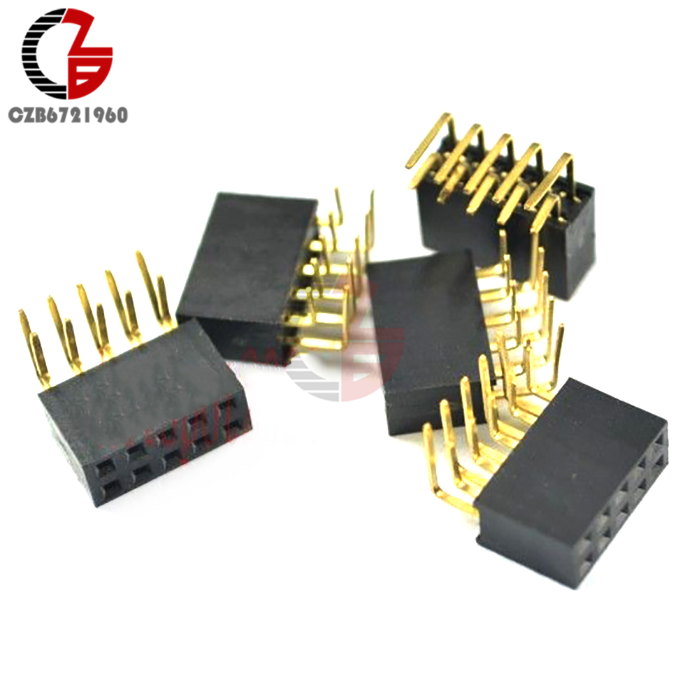 100pcs 2x6 Pin 12p 2.54mm Double Row Female Straight Header Pitch Socket Strip Customers First Electronic Components & Supplies Integrated Circuits