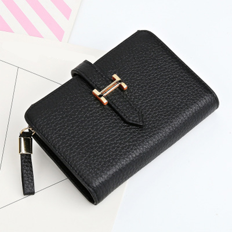 2017 Genuine Leather Women Wallet And Purses Coin Purse Female Small Portomonee Rfid Walet Lady Perse For Girls Money Bag