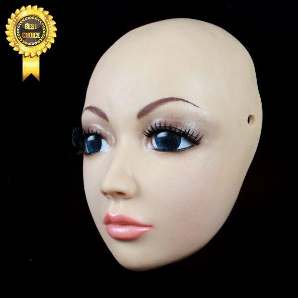 Sh 4 Silicone Female Mask Human Mask Crossdress Silicone Female Mask Sissy Boy Whloesaler Without Wig