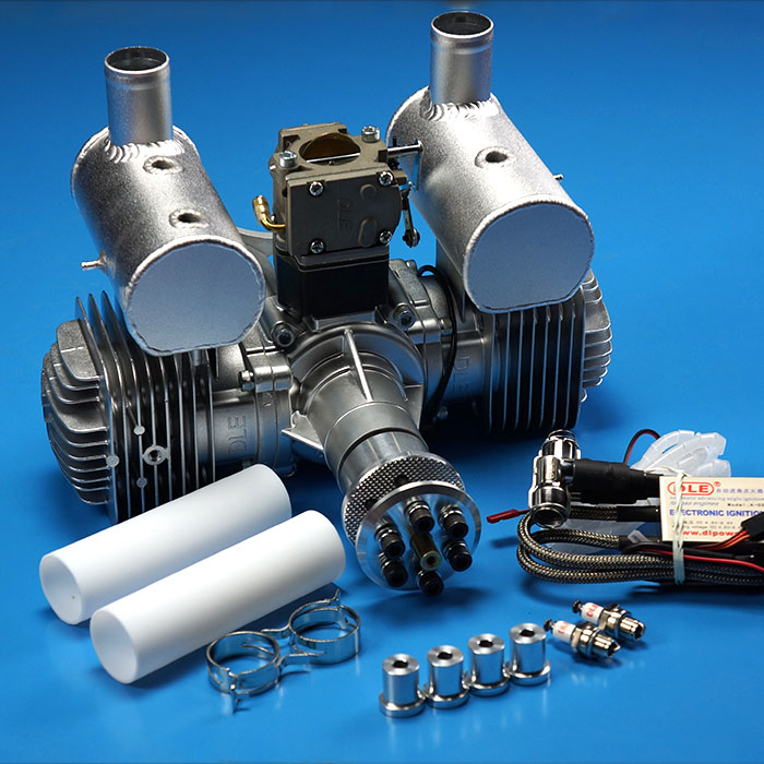 Original DLE 170CC Twin Cylinder 2-strokes Gasoline / Petrol Engine DLE170 for RC Airplane dla116 inline cnc processed inline gasoline engine petrol engine 116cc for gas airplanes with double cylinders