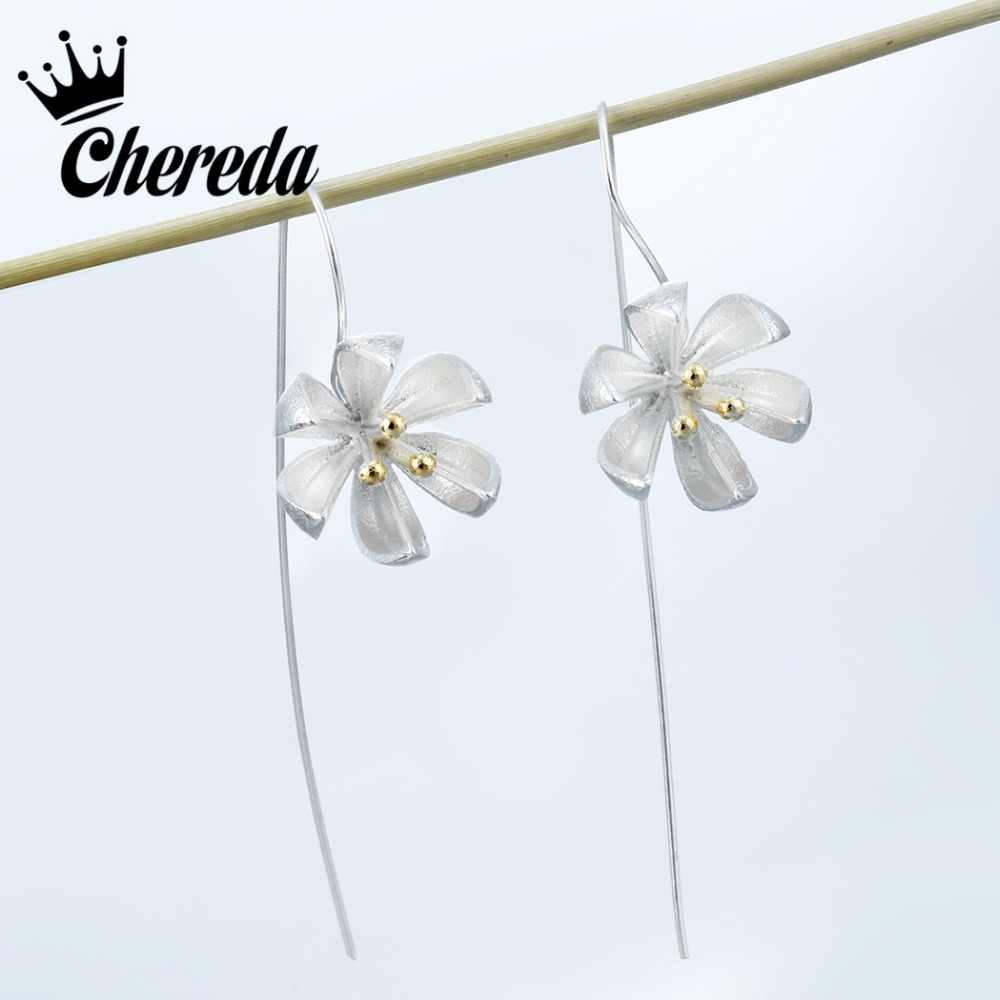 Chereda Fashion Tassel Drop Earring Long Flower Classic Jewelry For Women Party Gift