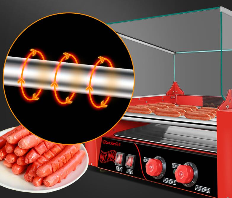 Electric Sausage Baking Machine Commercial Sausage Maker Automatic Mini Dual Control Temperature WY-007Electric Sausage Baking Machine Commercial Sausage Maker Automatic Mini Dual Control Temperature WY-007