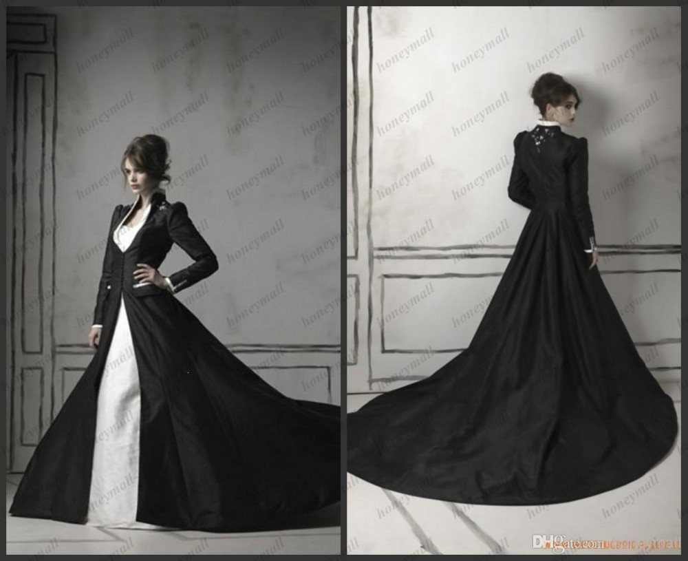 Black Wedding Dress With Train : Winter wedding dresses buy cheap long sleeve