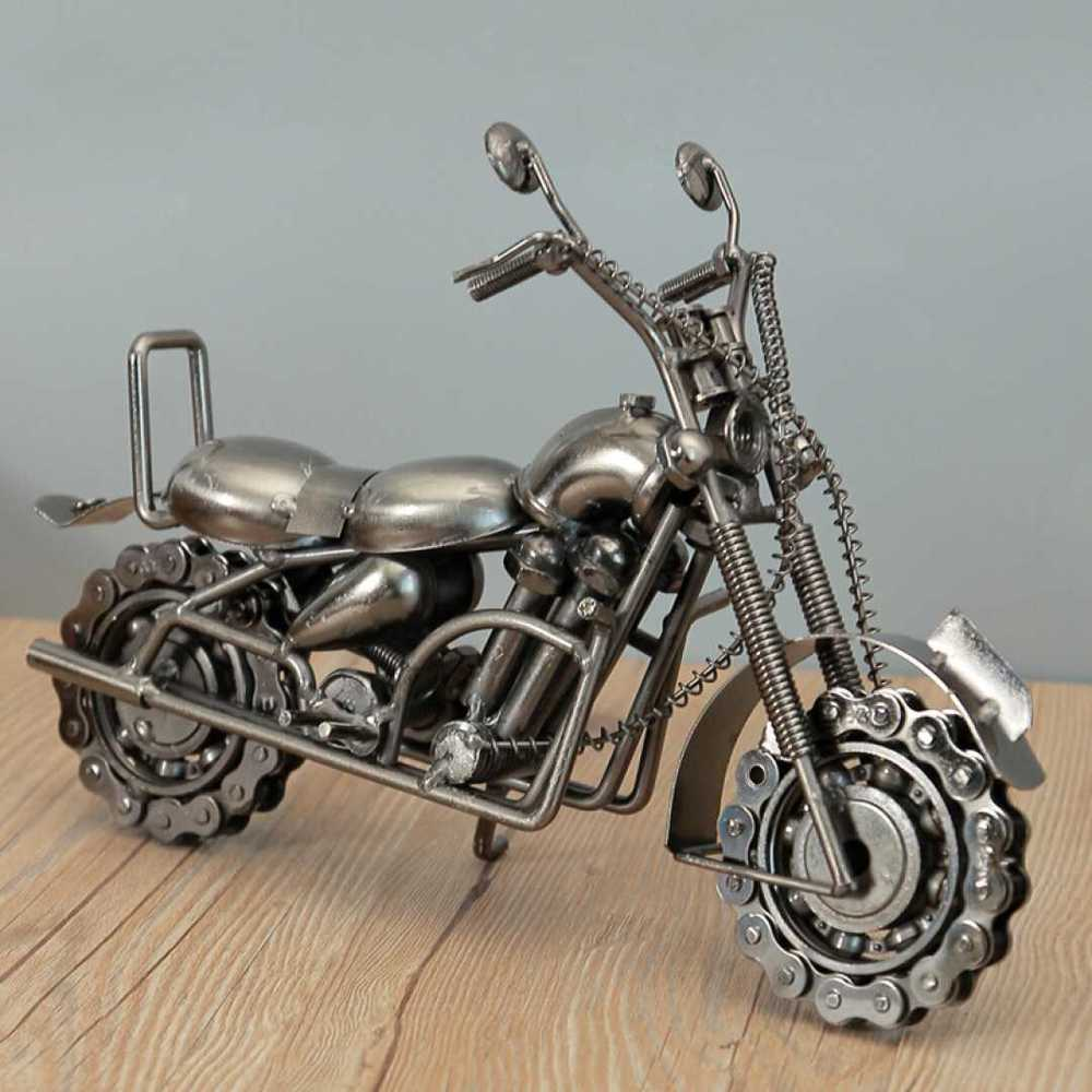 Home Decoration Decoration Wrought Iron Large Motorcycle Model Accessories Office Table Interior Home Decor WL5111441