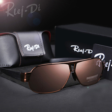 New Polarized Sunglasses Men Fashion Male Eyewear TAC Lens Mens Sun Glasses Metal Frame HD Driving Shade Square Eyewear 2017