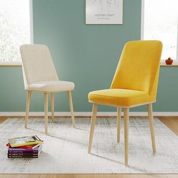 цена на Nordic INS Dining Chair PU Fashion Creative Modern Minimalist Furniture Table and Chair Casual Coffee Office Simple Home Chair
