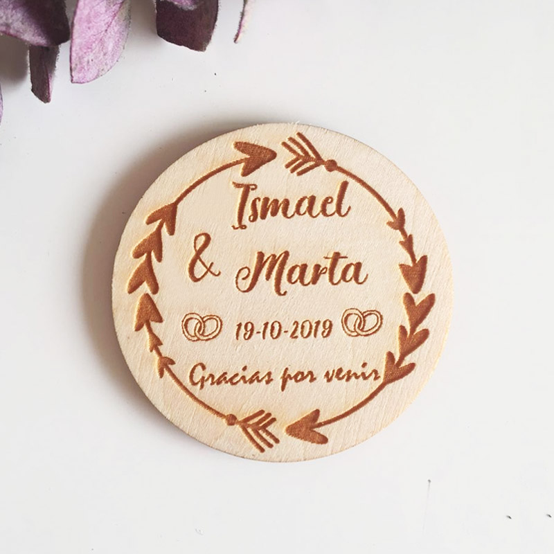 Wooden Wedding Party Favor Magnet Personalized Save the Date Magnet Wooden Wedding Gifts for Coming GuestWooden Wedding Party Favor Magnet Personalized Save the Date Magnet Wooden Wedding Gifts for Coming Guest
