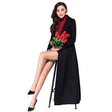 2016 Autumn and Winter Fashion Womens Ultra Long Cashmere Overcoat Female Wool Jacket Plus Size Double Breasted Woolen Outwear