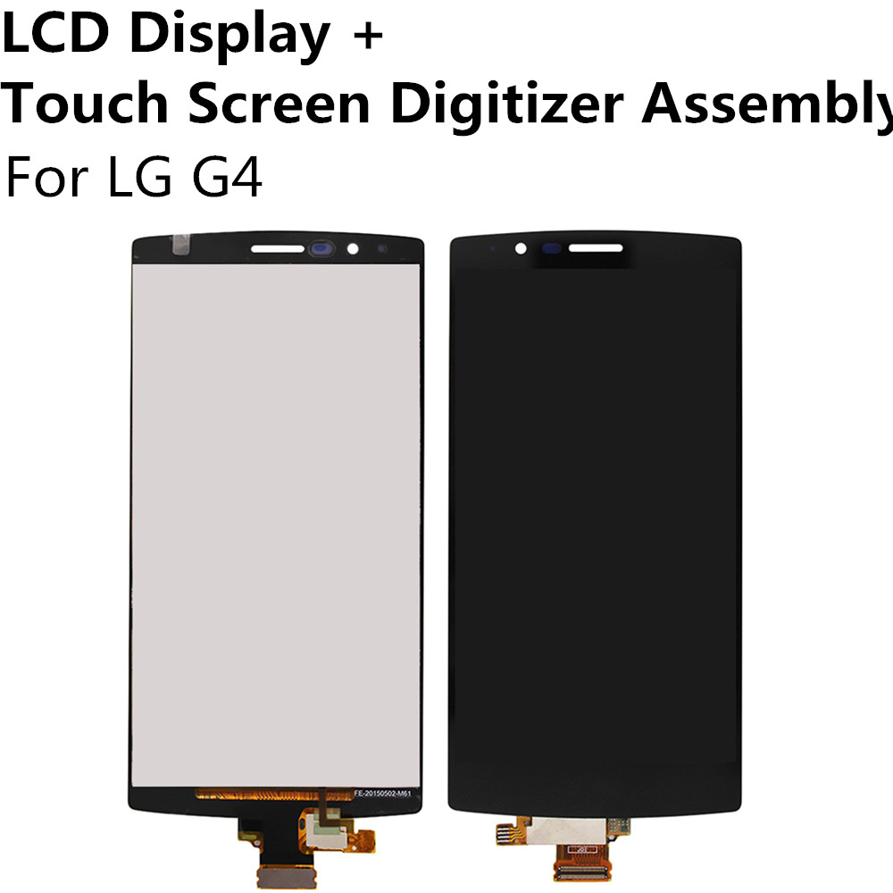 ФОТО Black LCD Display + Touch Screen Digitizer Panel Glass Sensor Lens Assembly For LG G4 Single SIM Card Replacement Repair Parts