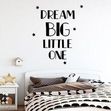 Diy dream big little one Wall Sticker Decal Home Decor Removable Vinyl Mural Wallpaper Waterproof Art