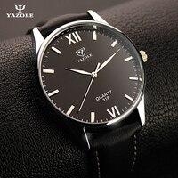 2017 Mens Watches Top Brand Luxury YAZOLE Famous Wristwatch Male Clock Wrist Quartz Watch Quartz Watch