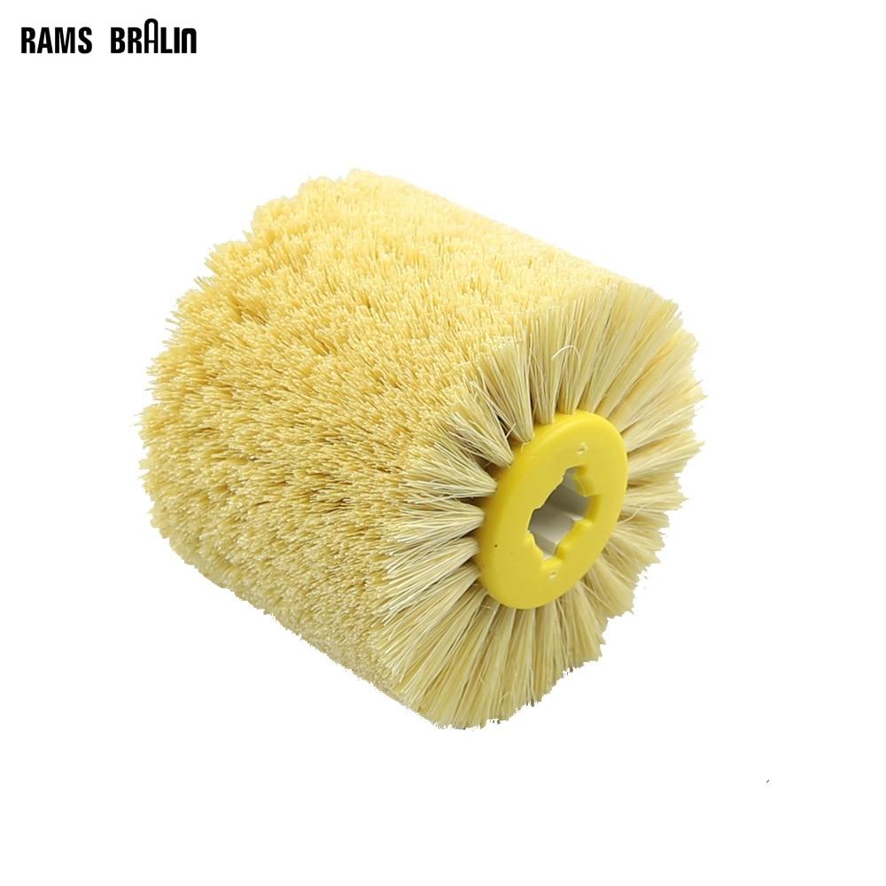 1 Pcs 120*100*19mm Sisal Bristle Polishing Waxing Wheel Brush For Annatto Rosewood Furniture Surface Mirror Finish