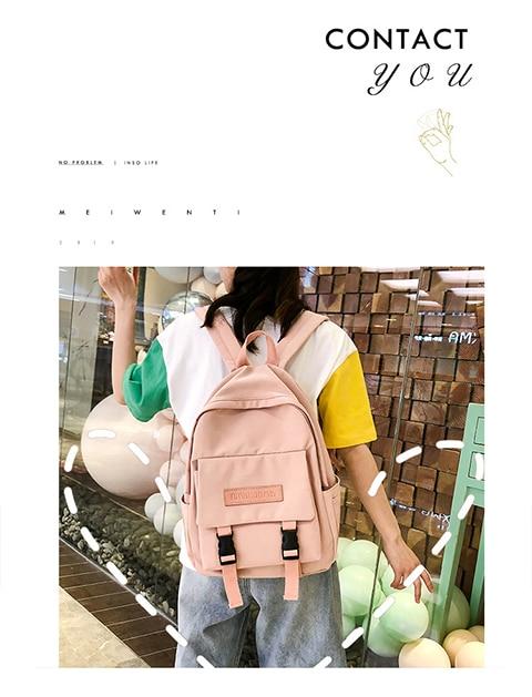 HTB1zvaRXp67gK0jSZPfq6yhhFXag 2019 Backpack Women Backpack Fashion Women Shoulder Bag solid color School Bag For Teenage Girl Children Backpacks Travel Bag