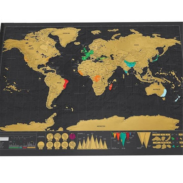 Aliexpress buy new travel world scratch map gold foil black new travel world scratch map gold foil black scratch map scratch off foil layer coating world gumiabroncs Gallery