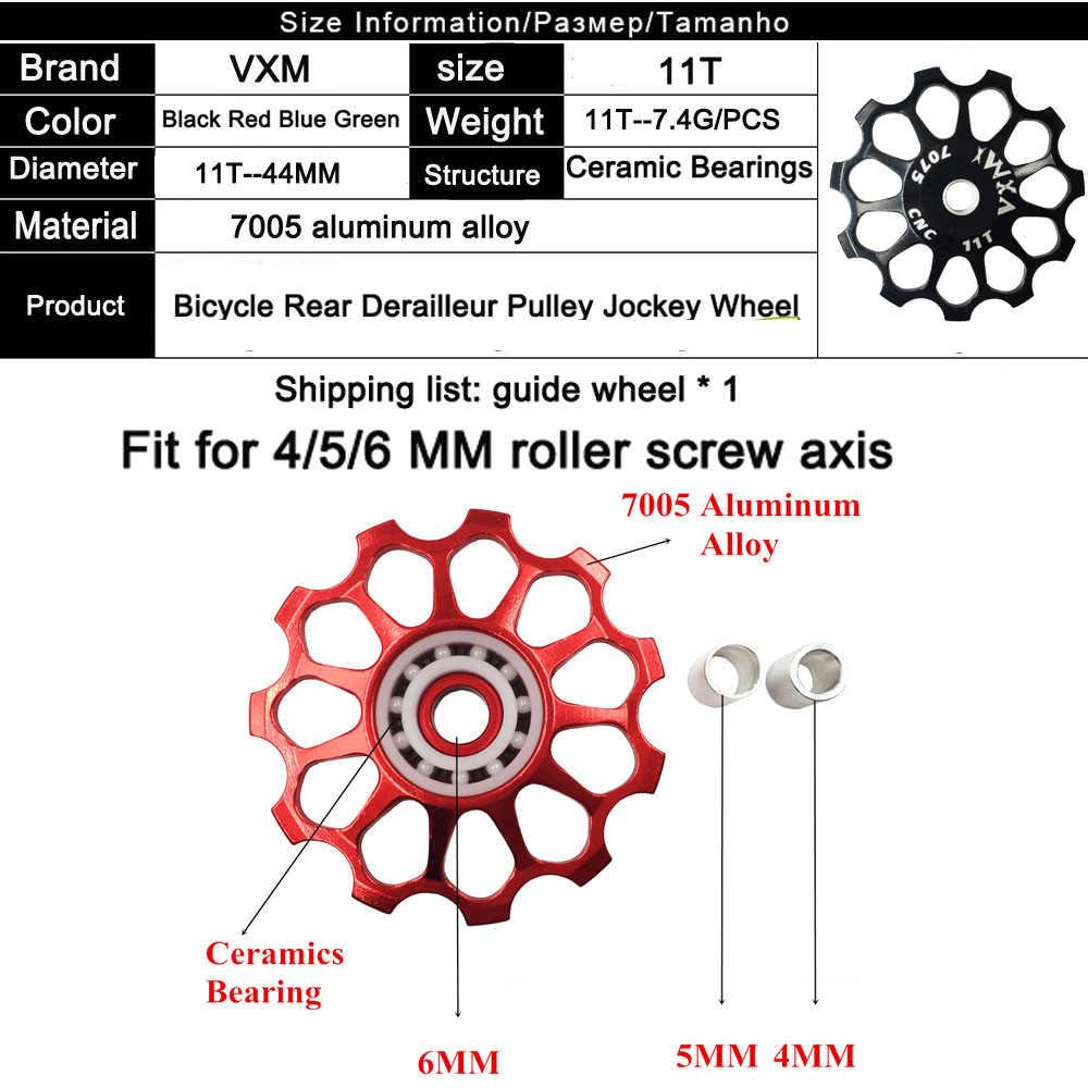 Bike Derailleur Pulley 12T Ceramic Aluminum Jockey Wheel Rear Fit 4//5//6mm Screws Support 7//8//9//10 Speed