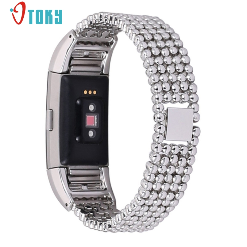 Excellent Quality Watch Bands Luxury Brand Stainless Steel Bracelet Smart Watch Band Strap For Fitbit Charge 2 Straps