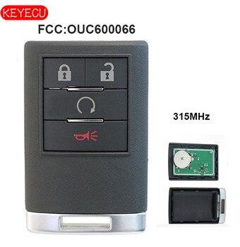 Keyecu умный пульт дистанционного управления 4 кнопки 315 МГц Fob для Cadillac ESV EXT 2007-2014 FCC: OUC600066 >> LedProfessional Store