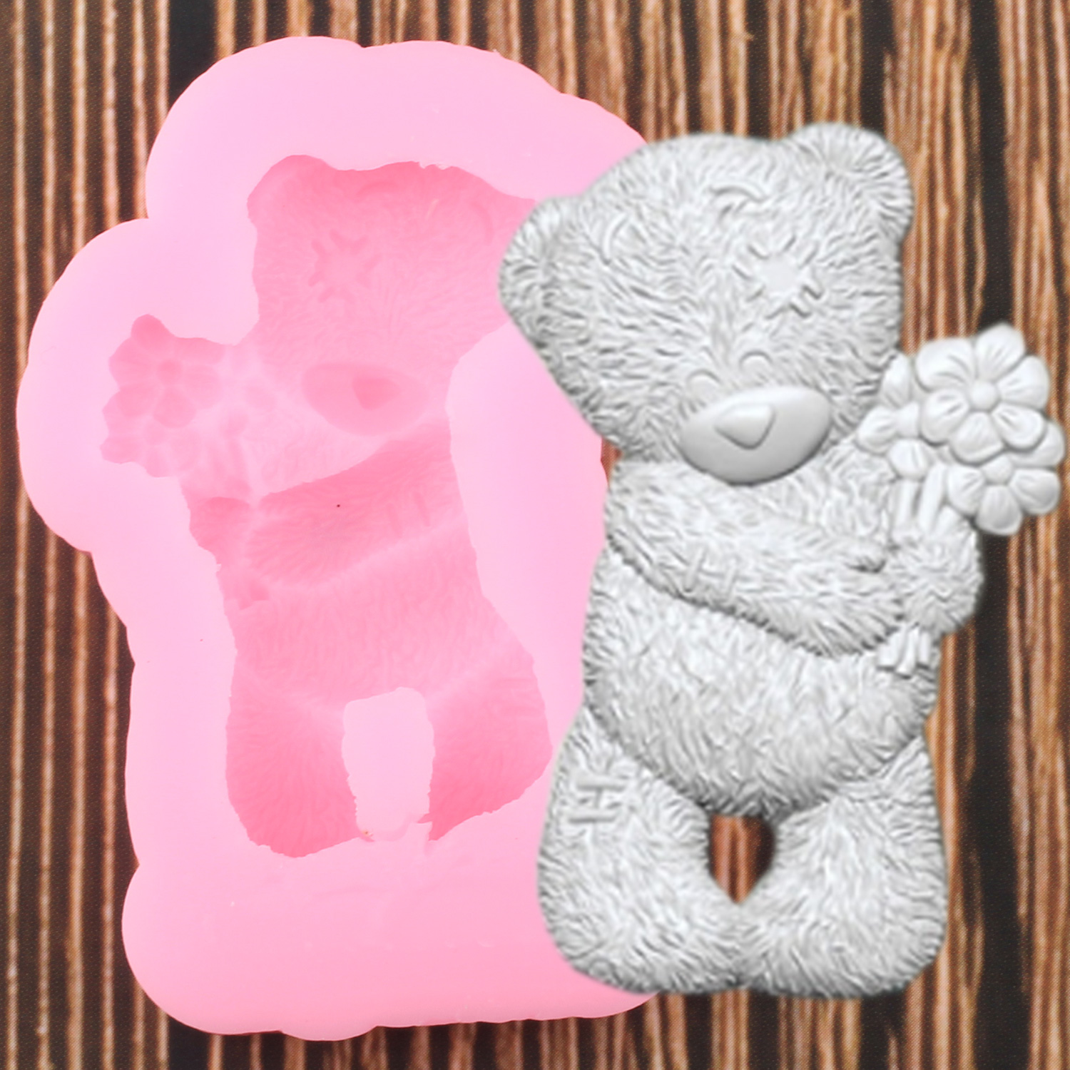 3D Bear Silicone Mold DIY Baby Birthday Party Cake Decorating Tools Cupcake Topper Fondant Baking Chocolate Candy Molds