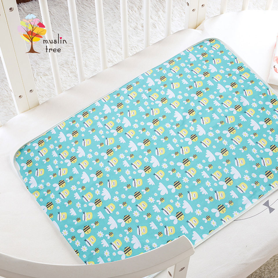 Cotton Baby Bamboo Changing Pads Newborn Baby Mattress Diaper Changing Mat For Infant Child Bed Waterproof Changing Mat For Crib